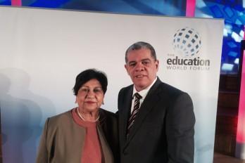 Ministros Amarante Baret y Ligia Amada Melo representan al país en Fórum Mundial por la Educación