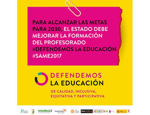 Foro Socioeducativo inicia la Semana de Acción Mundial por la Educación (SAME) 2017